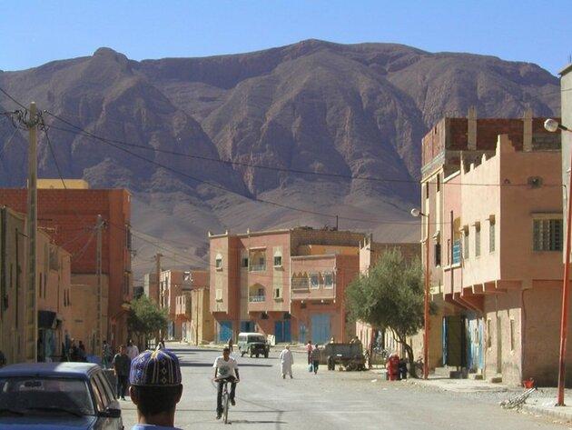 Les montagnes de l'Atlas au Maroc