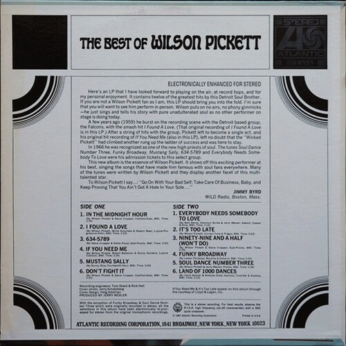 "Wilson Pickett : Album "" The Best Of Wilson Pickett "" Atlantic Records AT 8151 [US]"