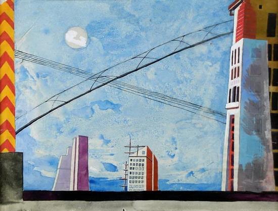 Primo Conti, Paysage Urbain, 1926