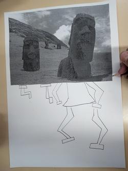 Les statues Moaïs.