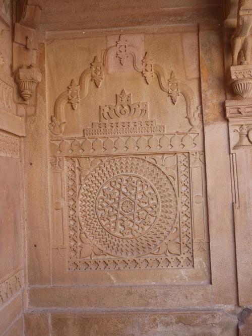 Le palais Man Mandir de Gwalior; l'ntérieur du fort;