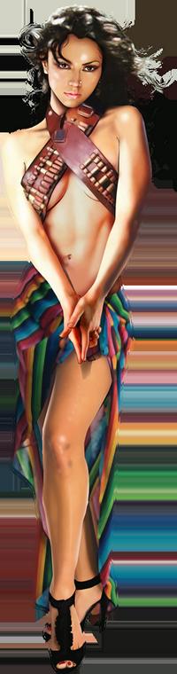 Tubes Femmes Multi Colors