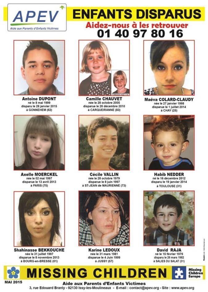 APEV Enfants disparus
