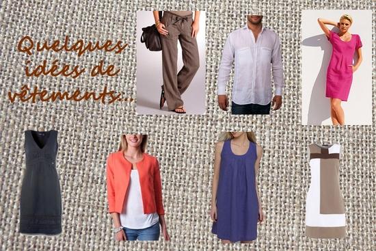 Vêtements en lin copie