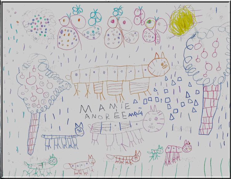 poème-dessin pour mamie / Anaïa (4 ans et demie)