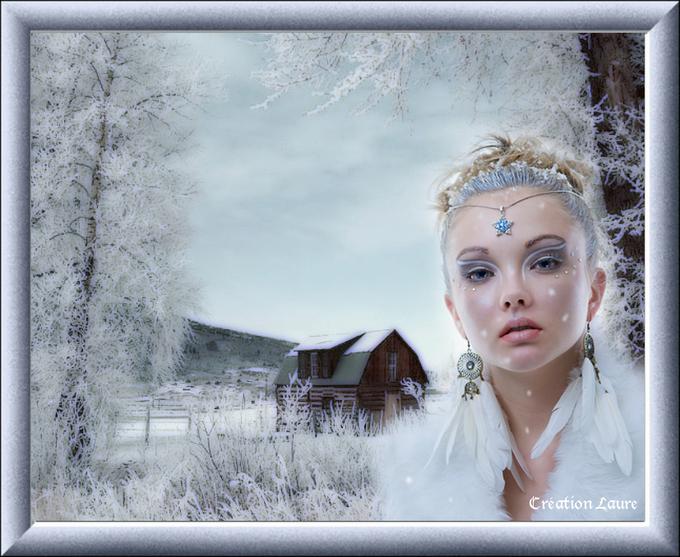 un petit peu d'hiver avant les créations de Noel