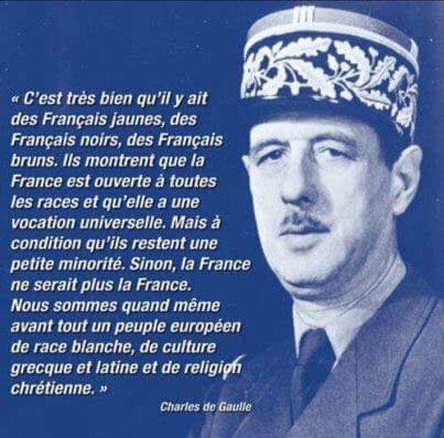 Une pensée au Grand Charles De Gaulle qui doit se retourner dans sa tombe.