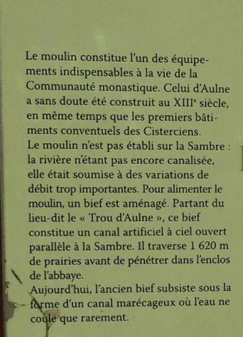 HIER VISITE AVEC MES AMIS DE L'ABBAYE D'AULNE A ENVIRON  KM DE CHEZ MOI