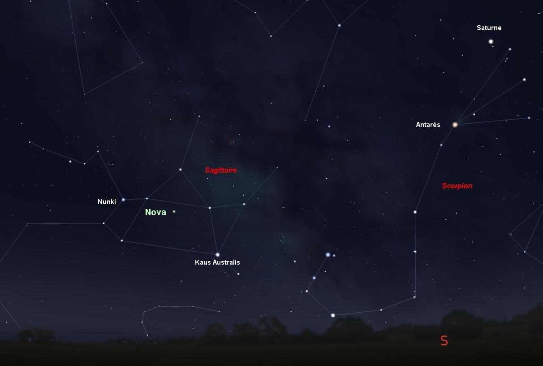 nova sagittarii 2015 n°2 map