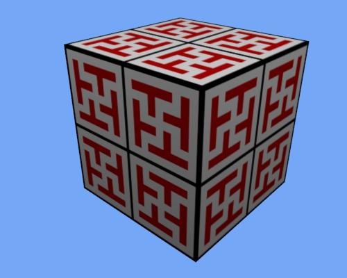 Motif chinois #3 sur le cube