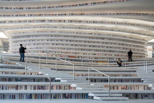 La bibliothèque Tianjin Binhai (Chine)