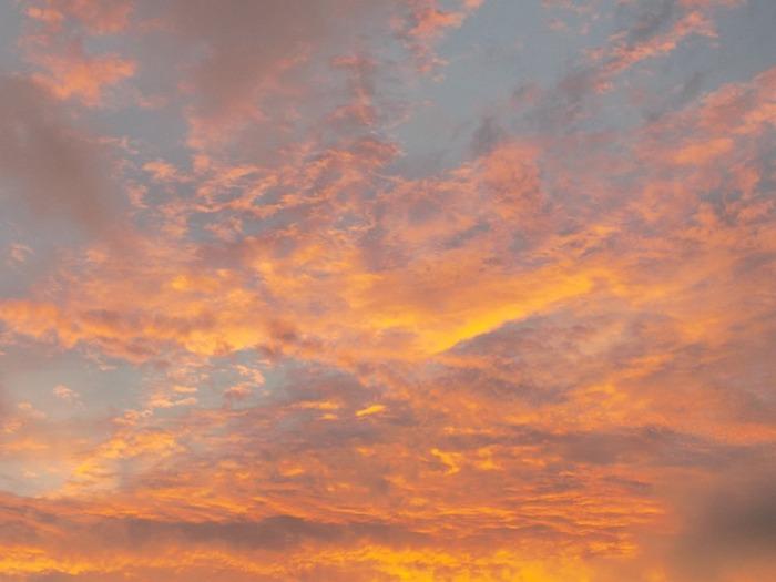 Le ciel ce soir