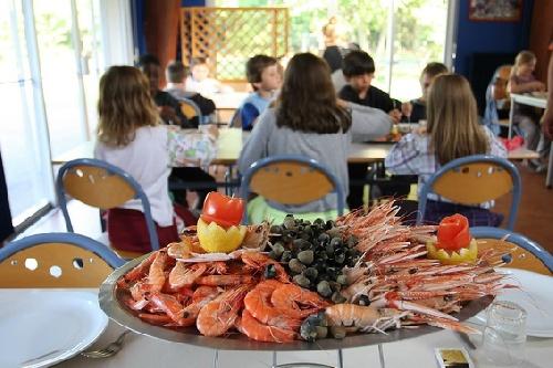 Le plat de fruits de mer