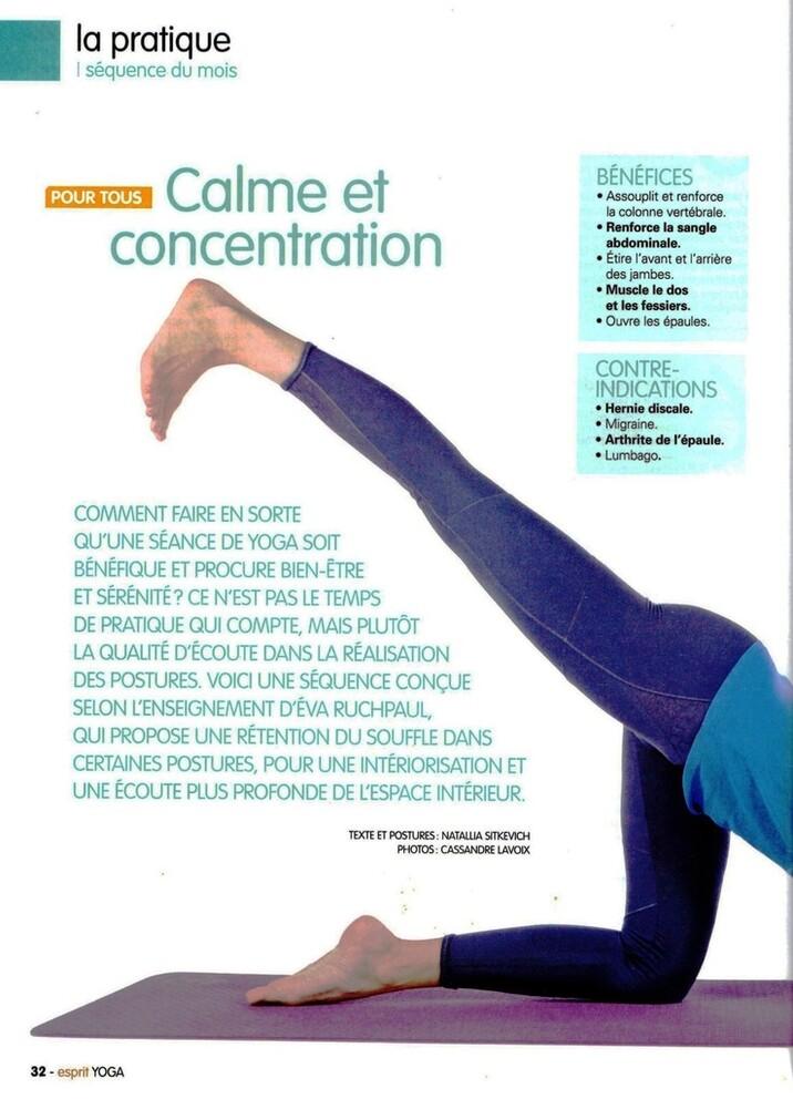 """Séance """"Calme et concentration"""""""