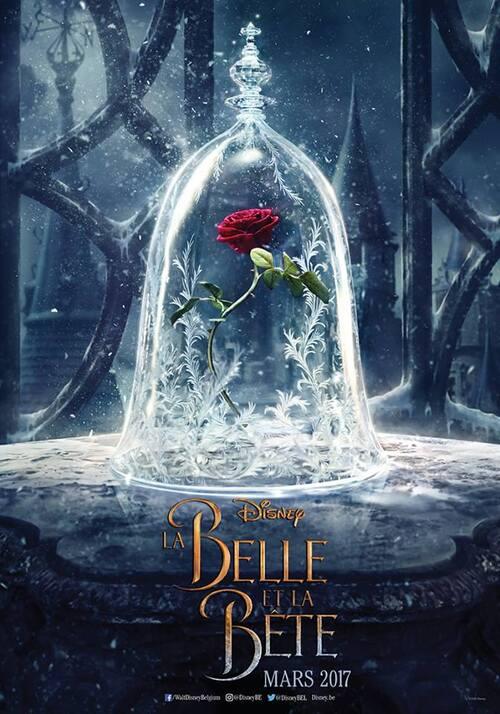 Affiche de La Belle et La Bête. Sortie : 29 mars 2017