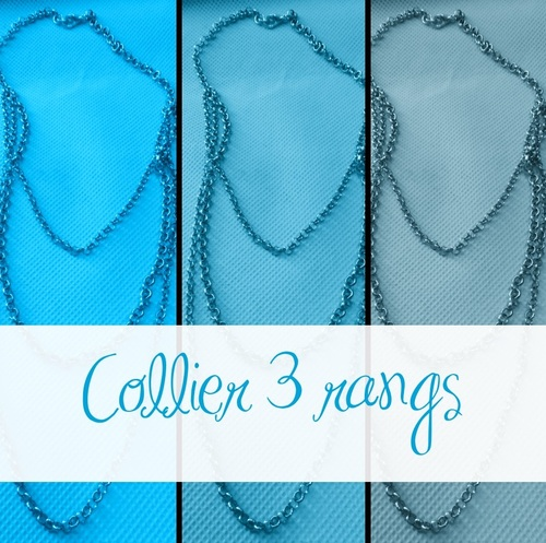 collier 3 rangs