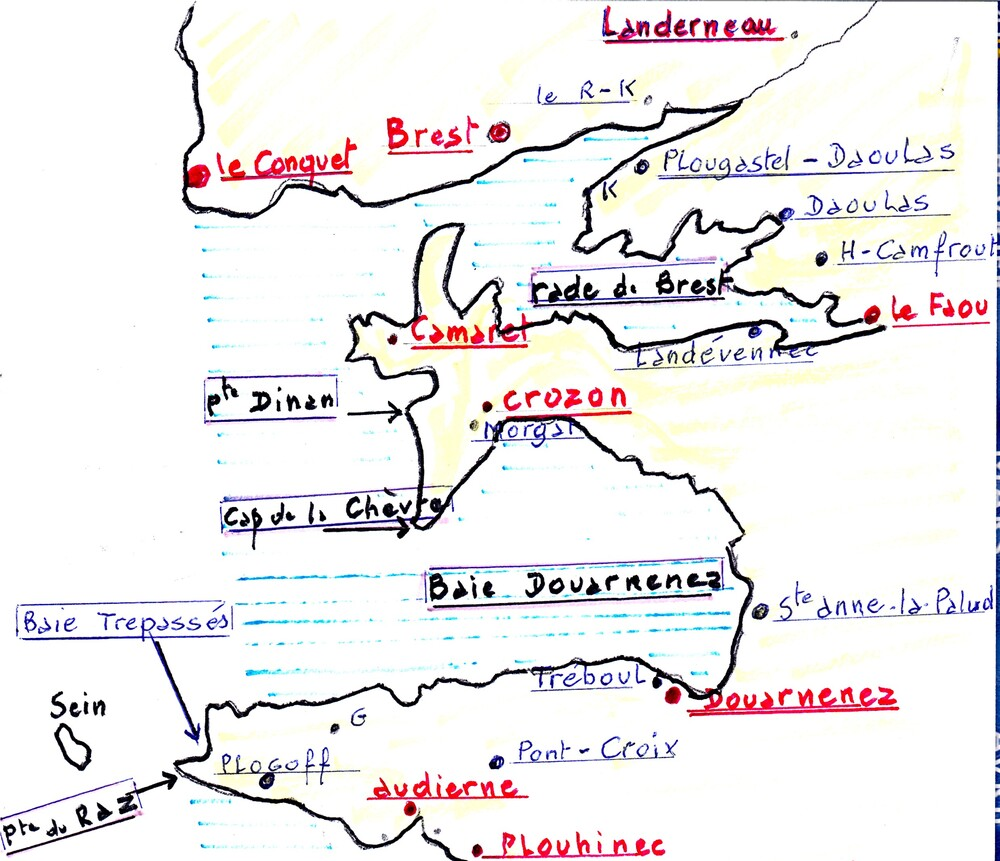 Brest -La rade-Landerneau