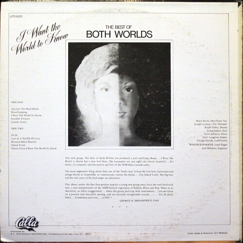 """Both Worlds : Album """" I Want The World To Know """" Calla Records LPS 5003 [US]"""