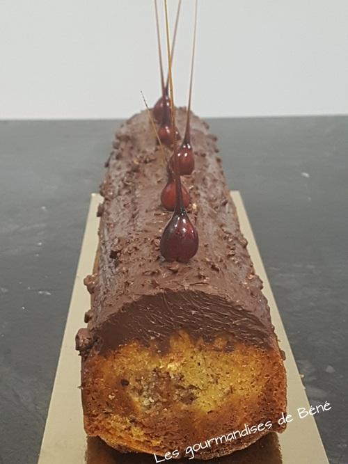 Cake marbré chocolat/noisette