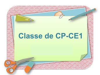 CP/CE1 - Mme Chevallier