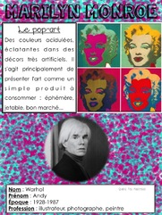 Quand t'es maicresse tu cherches des documents sur Andy Warhol
