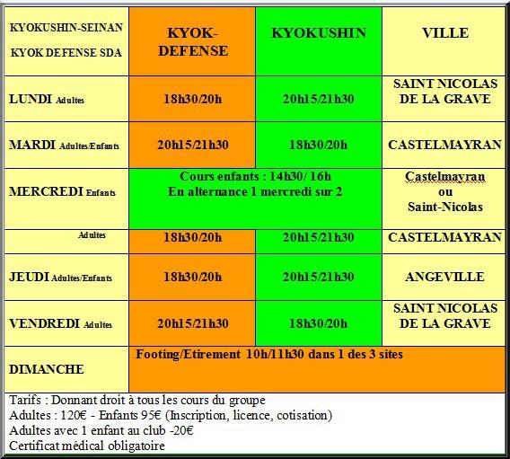 Tableau tarifs saison 2013 2014
