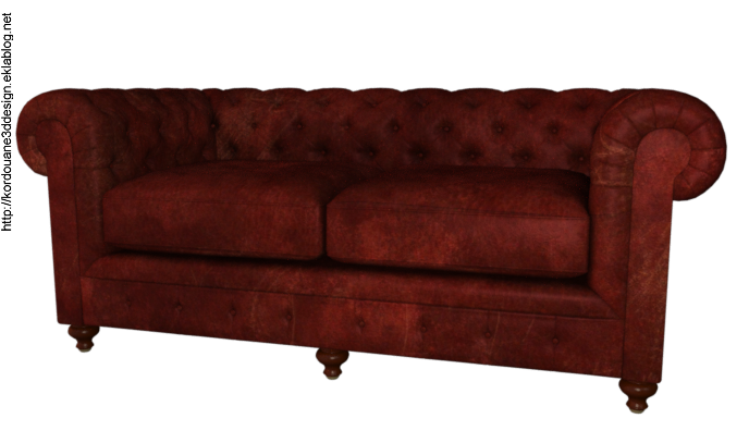 Tube canapé Chesterfield (render-image)