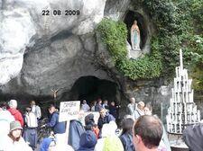 à Lourdes...