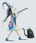 Anglais CM Les prépositions de lieu avec Wilbur (Winnie the witch)