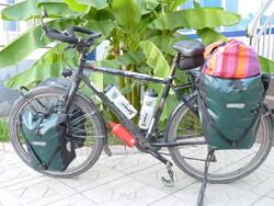 vélo chargé