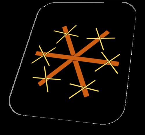 Flocons de neige en bâtonnets