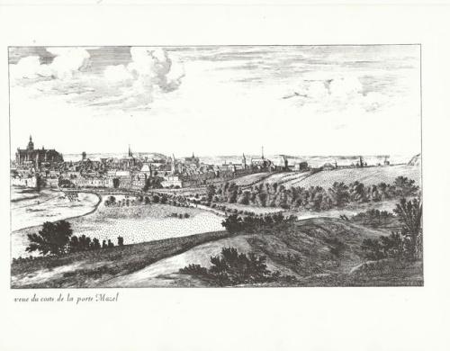 La ville de Metz vue de la porte Mazel (3 octobre 2011)