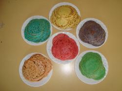 Les crêpes colorées