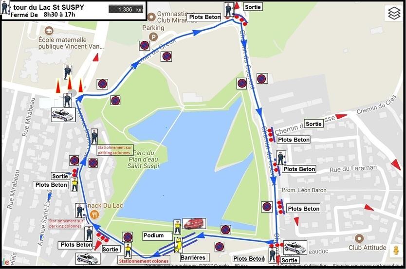 Plan du parcours securisé