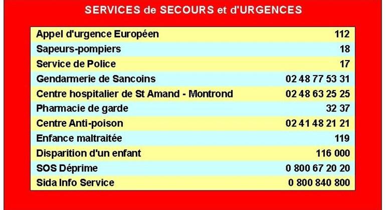 Services de secours et d'urgences