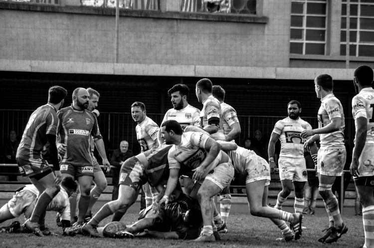 Rugby, stade Griffon (ex-Giraud), Roanne XV - Montrevel-en-Bresse, février 2016