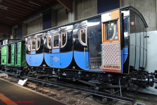 Nicole Prévost a visité le Musée du train à Mulhouse...