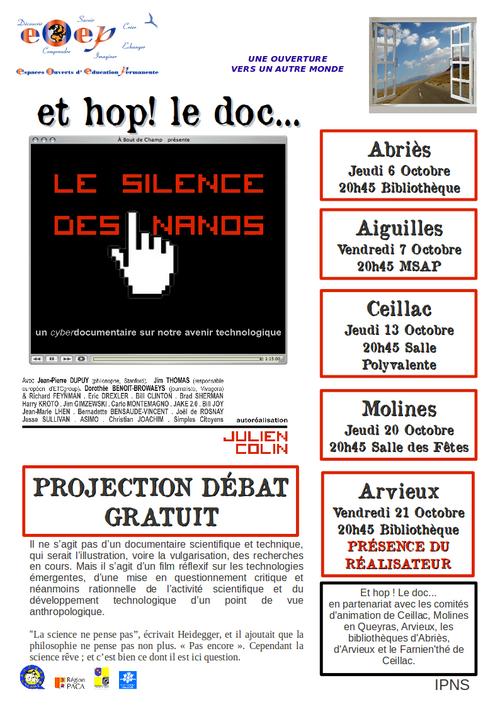 Et hop ! le doc... d'octobre : Le silence des nanos
