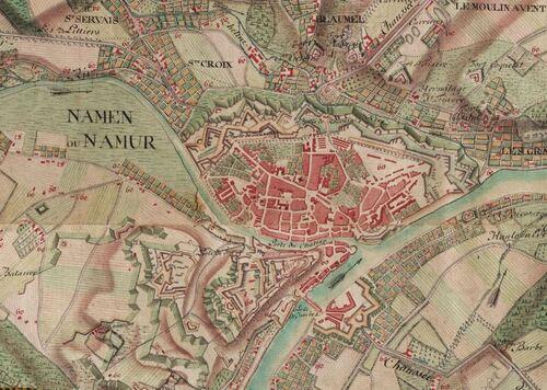 Namur (Carte Ferraris, 1777)(kbr.be)