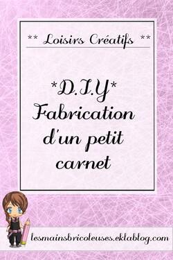 *DIY* Fabrication d'un petit carnet