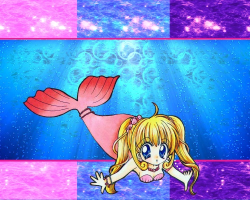 fond écran mermaid melody