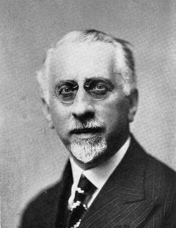 Le Doyen Georges Ripert, Professeur à la Faculté de Droit de Paris de 1918 à 1948 (photo Mathieu Pieters, La Haye)