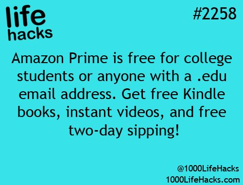 Amazon Prime Free for College Students! | 1000 Life Hacks: