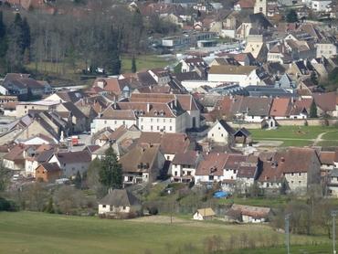 Ornans, vue du belvédère de la Roche Bottine