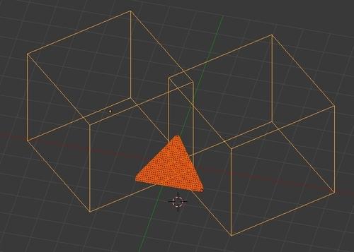 2 cubes permettent de couper le mur en triangle