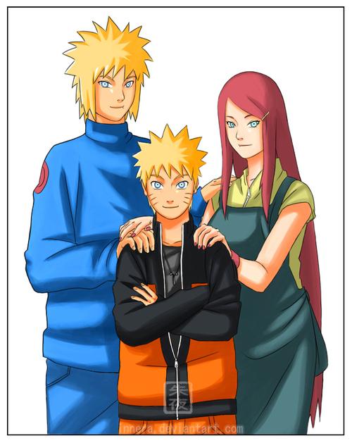 Minato, Kushina et Naruto