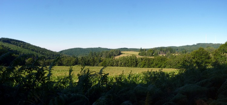 Panorama au Mont Bessou