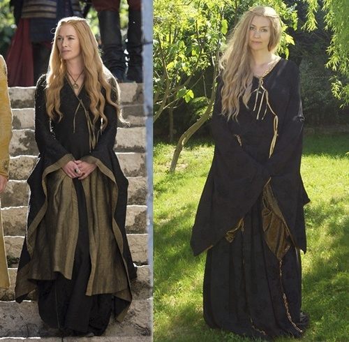 Robe noire Cersei: essayage