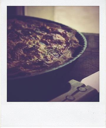Tarte aux poireaux (pâte feuilletée levée)