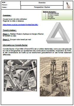 Triangle Escher représentation